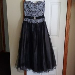 Black and gray formal dress